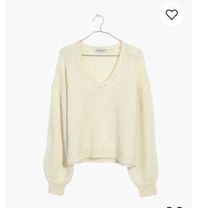 Madewell Balloon Sleeve Sweater Pearl SzXL NWT